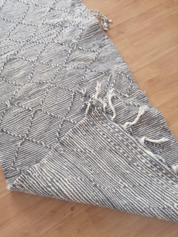 Grey runner zanafi rug it's berber Hand Knotted carpet