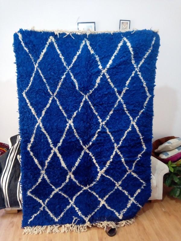 Blue Beni ourain Carpet