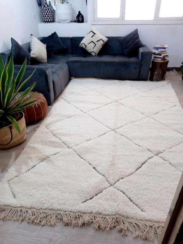ain Style - Diamonds  Design Rug - Nice Pile - Full Wool