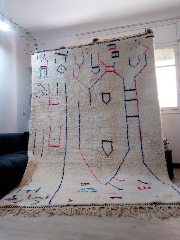 Berber rug - colored rug - handmade Moroccan Berber Carpet