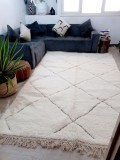 Moroccan Beni Ourain Style - Thick Design Rug - Nice Pile - Full Wool  - 311 X 196cm