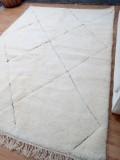 Beni ourain Style - Faded diamond pattern - Full Wool Rug -  310 X 212cm
