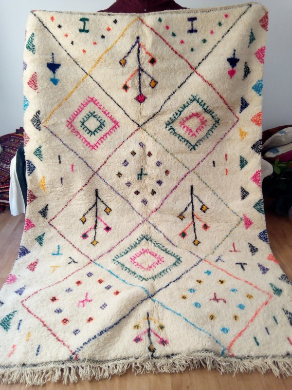 Azilal rug - handmade Moroccan Berber Carpet - 265x182