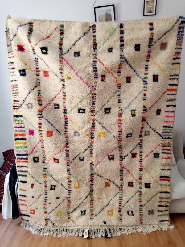 Azilal rug - handmade Moroccan Berber Carpet - 210x162