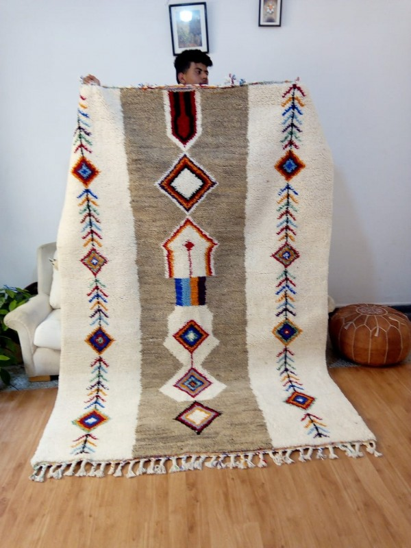Azilal Style - Hand woven Moroccan Wool Rug - handmade Moroccan  Carpet - 250x170