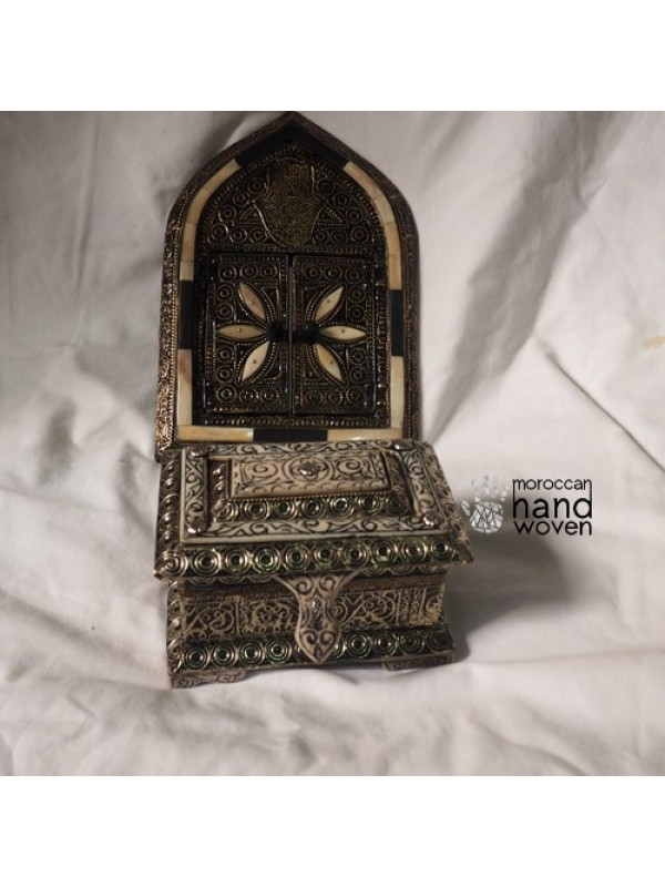 Set Moroccan Handmade Handcrafted Mirror & Chest