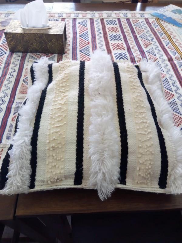 Berber cushions pillow/unstuffed pillow pattern
