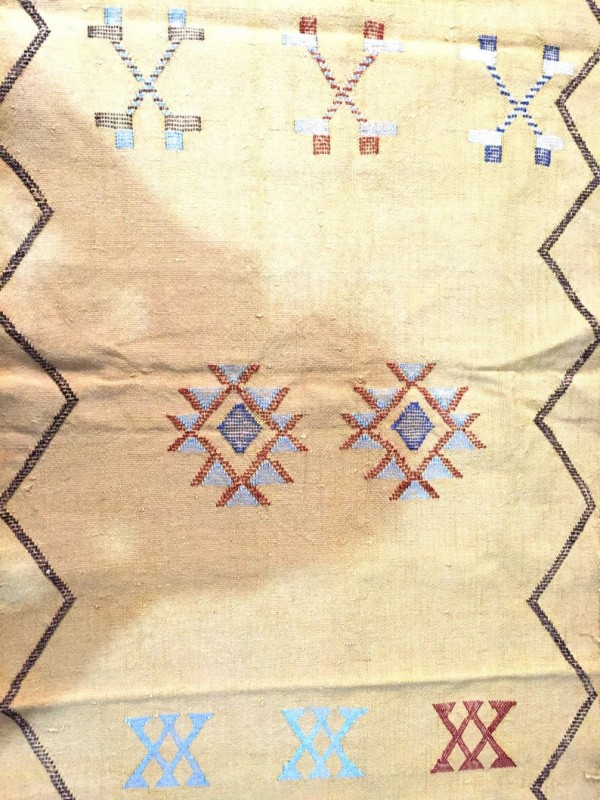 Cactus Silk Runner, Moroccan sabra carpet (8.7 x 2,3 ft) Cactus Rug Moroccan Boho Moroccan Style Runner Yellow runner