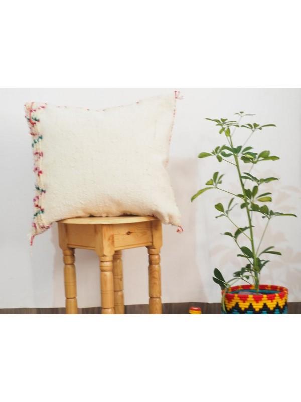 Decorative pillow cover / wool berber pillow / white boho pillow