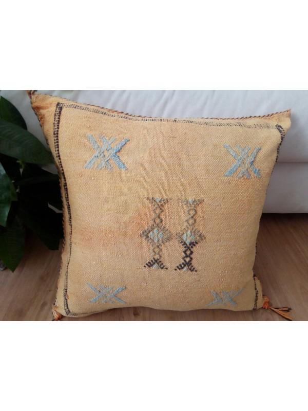 Cactus Sabra silk  Moroccan sabra CACTUS Silk pillow - Orange cushion unstuffed  - 50 X 49 CM