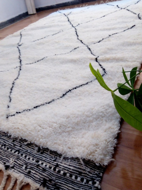 Large Berber Style - Moroccan Rug -  Wool - Beni Ourain Style  - 300 X 200cm