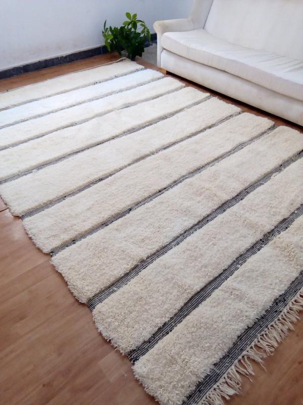 Moroccan Beni Ourain Style - hand woven Rug - Shag Pile - Handmade Carpet  - 300 X 204cm