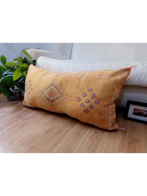 LUMBAR Sabra silk large Moroccan sabra CACTUS cushion - light orange pillow unstuffed