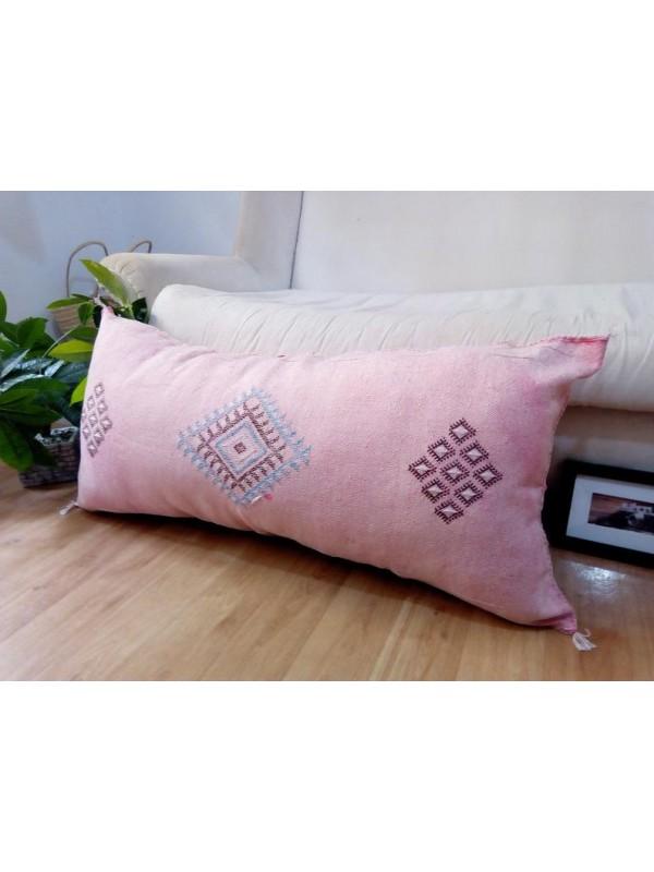 LUMBAR Sabra silk large Moroccan sabra CACTUS cushion - pink pillow  - unstuffed