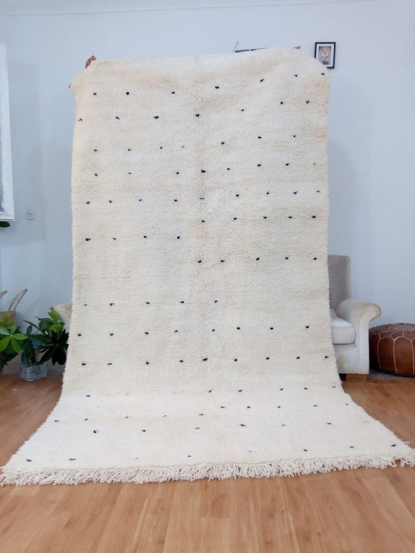 Berber Rug ٍStyle - Shaggy - Dots pattern - Authentic rugs - Wool - 294 X 162cm