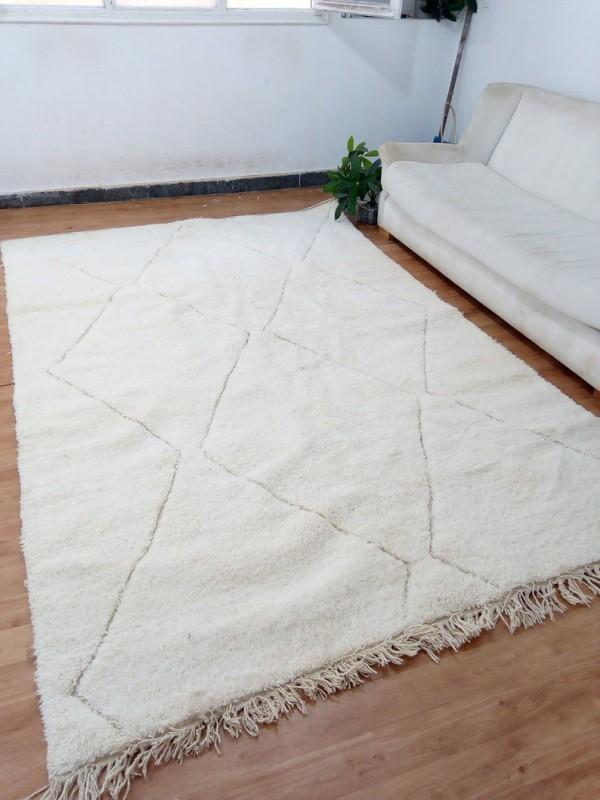 Berber Rug - Style beni ourain - Moroccan carpet - Berber Faded Design - Full Wool - 300 X 194cm