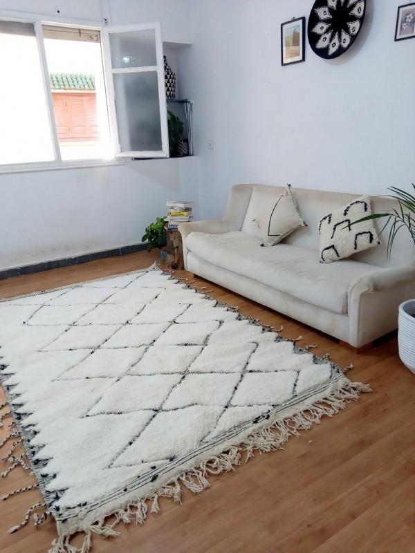 Moroccan Rug - Moroccan Berber carpet - Full Wool - Beni Ourain Style - 262 X 161cm
