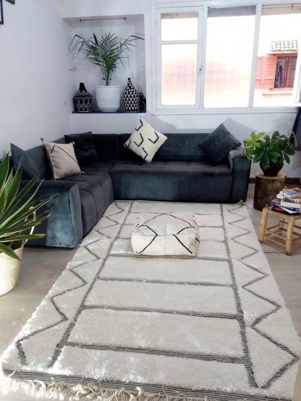 Moroccan Handmade Beni Ourain Style - Berber Wool Rug- Carpet Teppich Tapis  - 260 X 159cm
