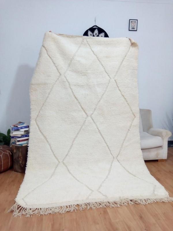 Berber Design - Style beni ourain - moroccan carpet  - Full Wool - 265 X 166cm