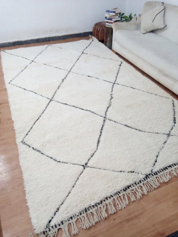 Berber rug - Beni Ourain style From Morocco - tribal Rug - Full Wool - 346 X 200cm