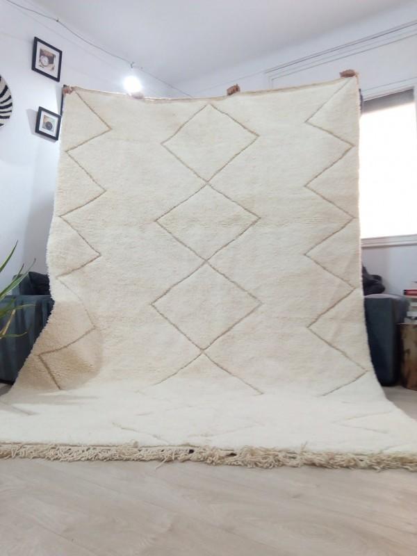 Moroccan Beni Ourain ٍStyle - Tribal Rug Berber - Hand Woven Wool - 315 X 214CM