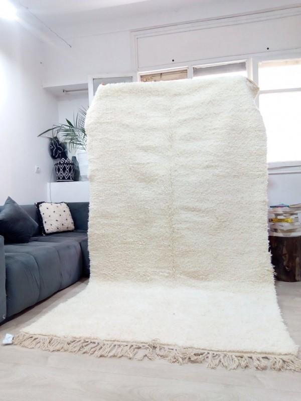 Beni Ourain Style - Uni Color - Tribal Rug - Shag Pile  - Wool - 276 X 154cm