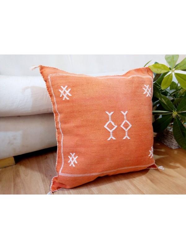 Cactus Sabra silk  Moroccan sabra CACTUS Silk pillow - Cactus silk cushion unstuffed  - 49 X 49 CM