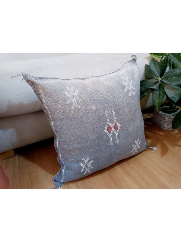 Cactus Sabra silk  Moroccan sabra CACTUS Silk pillow - Morocco cushion unstuffed  - 52 X 47 CM