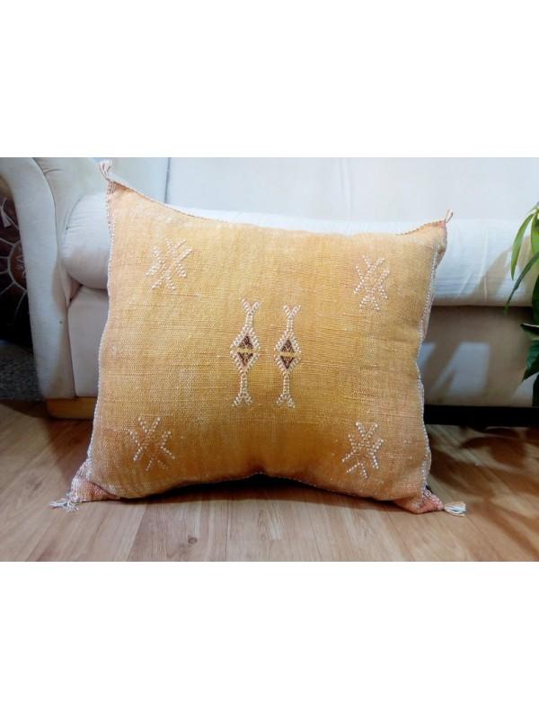 Cactus Sabra silk  Moroccan sabra CACTUS Silk pillow - Cactus silk cushion unstuffed  - 50 X 43 CM