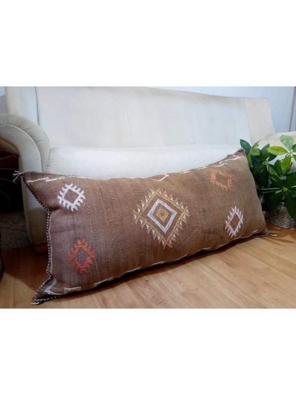 Cactus Silk Cushion - Moroccan sabra Brown CACTUS Silk pillow - unstuffed