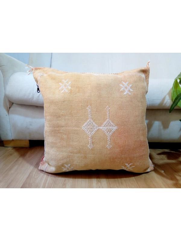 Cactus Sabra silk  Moroccan sabra CACTUS Silk pillow - Cactus silk cushion unstuffed  - 48 X 47 CM