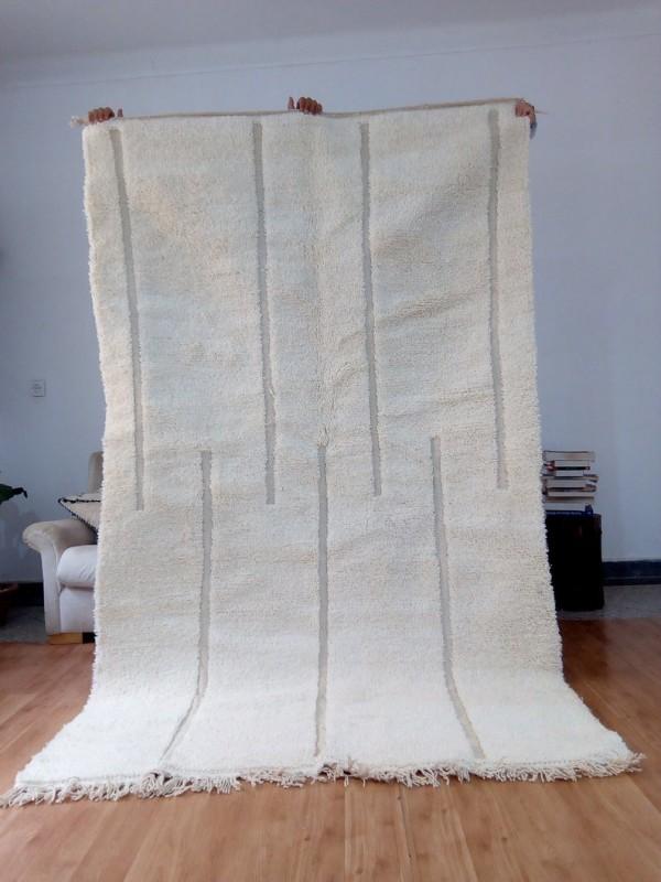 Berber Rug - Style Beni Ourain  - Art Design Pattern - Full Wool - 250 X 145cm