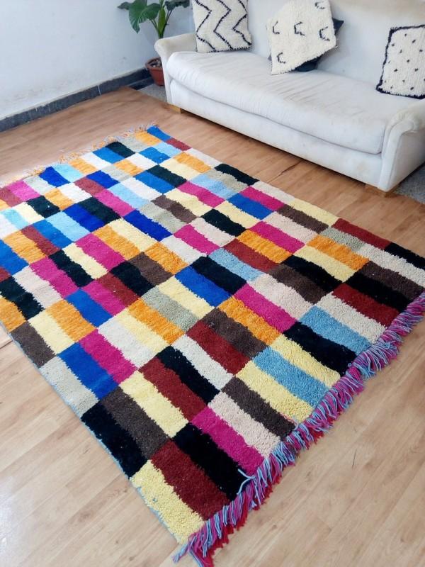 Berber rug - colored rug - handmade Moroccan Berber Carpet - 235x170 CM