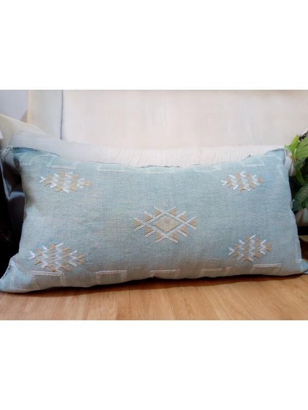 LUMBAR Sabra silk - Moroccan sabra CACTUS Silk pillow - sunshine green level pillow - unstuffed