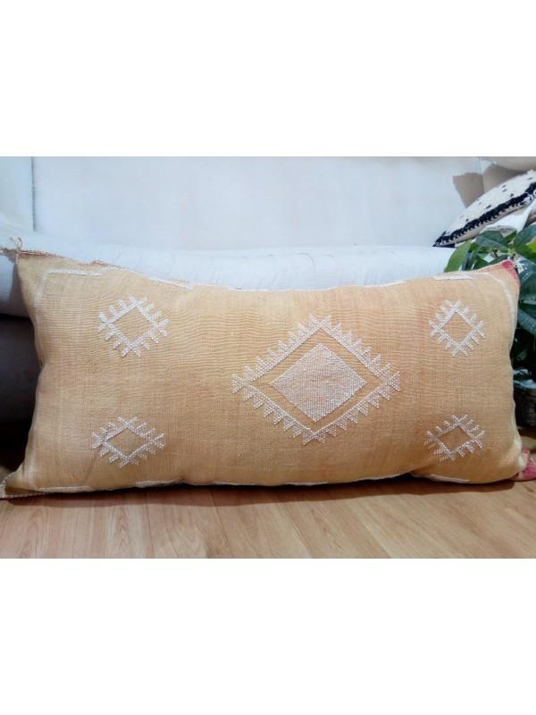 Cactus silk pillow - Moroccan sabra CACTUS cushion - light orange pillow 90x50 CM - unstuffed