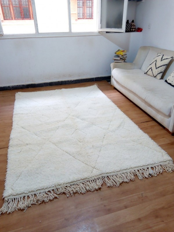 Berber Rug - Style Beni Ourain  - Art Design Pattern - Full Wool - 250 X 165cm