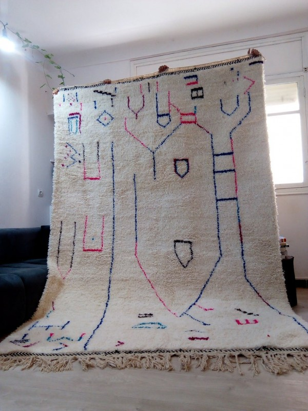 Berber rug - colored rug - handmade Moroccan Berber Carpet - 310x210 CM