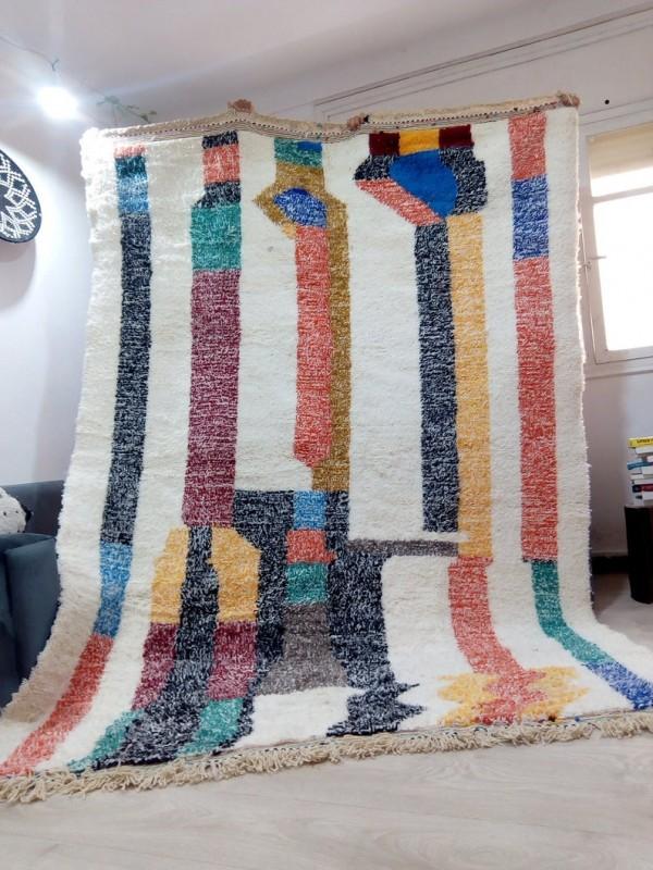 Berber rug - colored rug - handmade Moroccan Berber Carpet - 300x206 CM