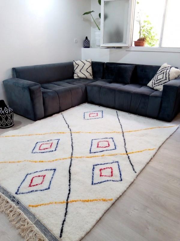 Berber rug - colored rug - handmade Moroccan Berber Carpet - 240x178 CM