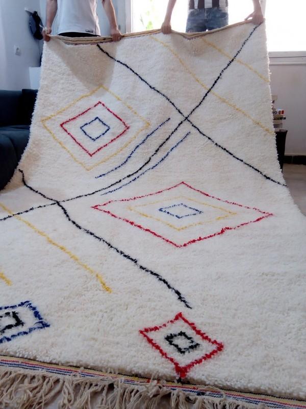 Berber rug - colored rug - handmade Moroccan Berber Carpet - 315x200 CM