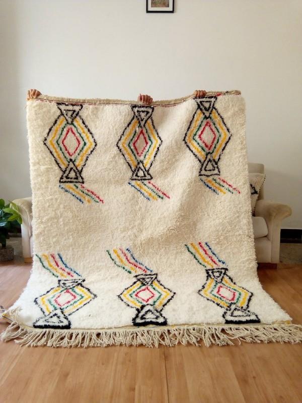 Berber rug - handmade Moroccan Berber Carpet - 190x151 CM