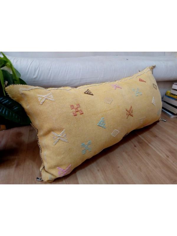 Cactus silk pillow - Moroccan sabra CACTUS cushion - light orange pillow - unstuffed