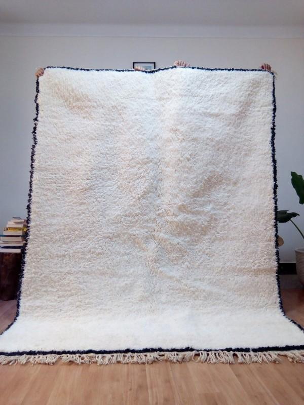 Moroccan carpet - Beni Ourain Style - Tribal Rug  - Full Wool - 240 X 183cm