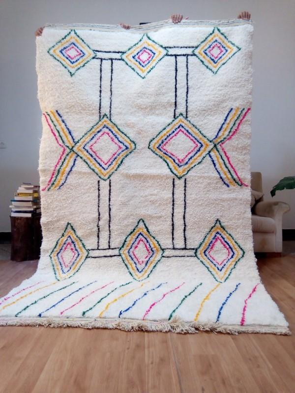 Berber rug - colored rug - handmade Moroccan Berber Carpet - 267x164 CM
