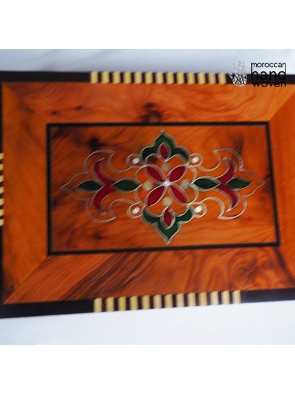 beautiful handmade thuya wood box / Moroccan wood
