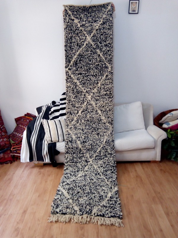 Black Runner Berber Carpet