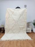 Beni Ourain Style - Hand Woven Wool Rug - Uni Faded Carpet - Tribal Rug  - 275X175cm