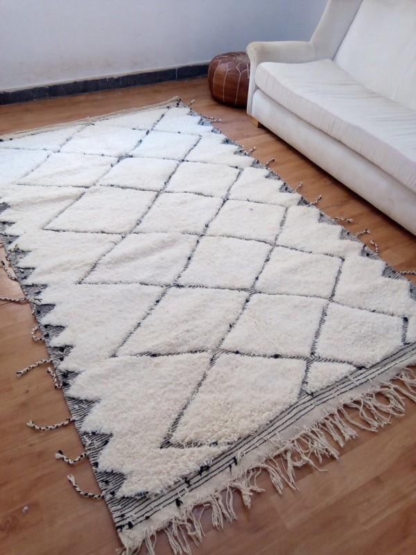 Moroccan Rug - Moroccan Berber carpet - Full Wool - Beni Ourain Style