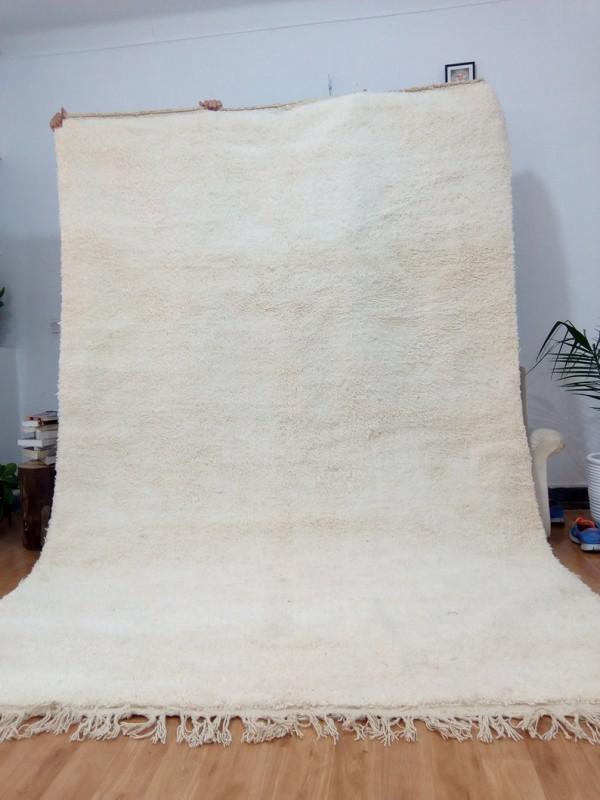 Moroccan Beni Ourain Style - Uni Color Rug - Nice Pile - Full Wool
