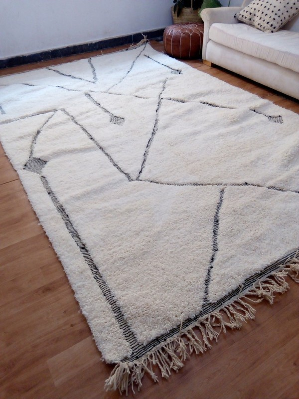 Moroccan Rug - Beni Ourain Tribal Style - Berber Rug - Full Wool - 310 X 200cm